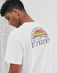 Element Odyssey T Shirt In White