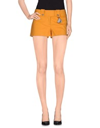 Atos Lombardini Trousers Shorts Women Ocher