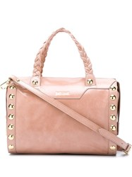 Just Cavalli Braided Handle Tote Pink And Purple
