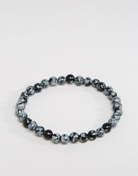 Jack And Jones Beaded Bracelet In Grey Grey