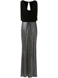 Badgley Mischka Cowl Neck Embellished Dress 60