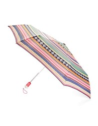 Totes Indigo Floral Automatic Umbrella Multi Colored