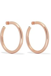 Jennifer Fisher Samira Rose Gold Plated Hoop Earrings One Size
