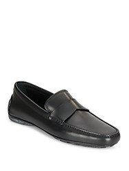 Ermenegildo Zegna Leather Penny Loafer Drivers Nero