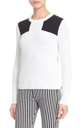 Rag And Bone Women's Rag And Bone Jean 'Gaia' Colorblock Crewneck Sweater White