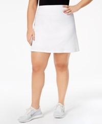Ideology Plus Size Tennis Skort Created For Macy's Bright White