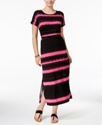 G.H. Bass And Co. Striped Maxi Dress Pink Punch Combo