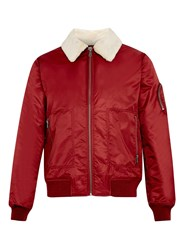 Topman Nylon Flight Jacket Burgundy