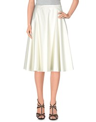 Douuod Knee Length Skirts Ivory