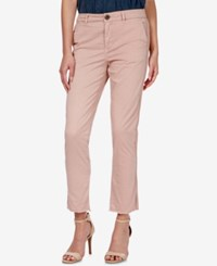 Lucky Brand Ankle Length Chino Pants Dusty Pink