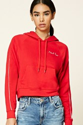 Forever 21 I Dont Know Embroidered Hoodie