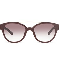 3.1 Phillip Lim Pl92 D Frame Sunglasses Burgundy And Bronze