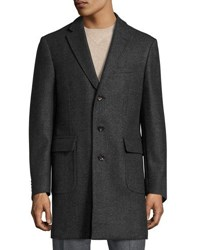 Luciano Barbera Double Face Wool Topcoat Gray