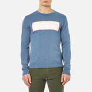 Garbstore Men's Stonewall Crew Knitted Jumper Blue