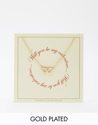 Johnny Loves Rosie Will You Be My Valentine Gift Card Gold