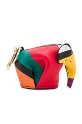 Loewe Elephant Charm In Stripes Red Yellow Stripes Red Yellow