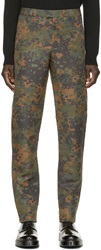 Burberry Camo Print Trousers
