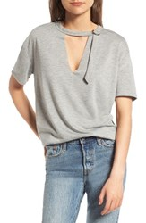 Socialite Women's D Ring Tee Heather Grey