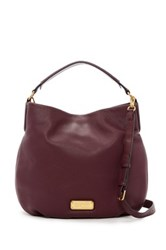 Marc By Marc Jacobs New Q Hillier Leather Hobo Red