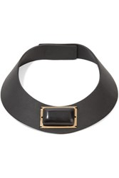 Marni Leather And Horn Choker Black