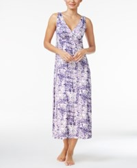 Alfani V Neck Long Knit Nightgown Only At Macy's Purple Dots