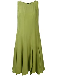 Aspesi Flared Dress Women Silk 44 Green