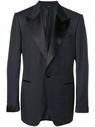 Tom Ford Classic Fitted Blazer Blue