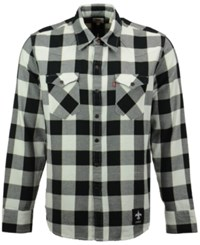 Levi's Men's New Orleans Saints Plaid Barstow Western Long Sleeve Shirt Black