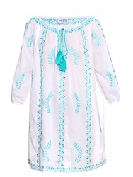 Juliet Dunn Hand Embroidered Cotton Beach Dress