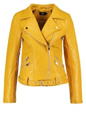 Only Onlsisse Faux Leather Jacket Yolk Yellow