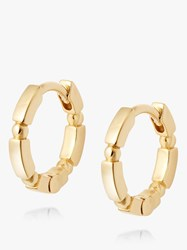 Daisy London Stacked Bead And Bar Huggie Hoop Earrings Gold