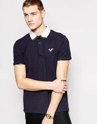 Voi Jeans Logo Polo Shirt Navy