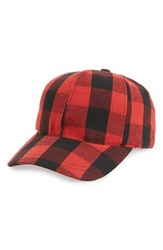 Collection Xiix Plaid Baseball Cap Red