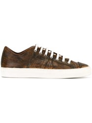 Geoffrey B. Small Aged Effect Sneakers Brown
