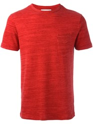 Officine Generale Basic T Shirt Red