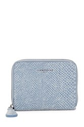 Liebeskind Snake Embossed Leather Coin Wallet Blue