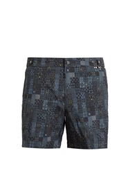 Danward Geometric Print Swim Shorts Grey