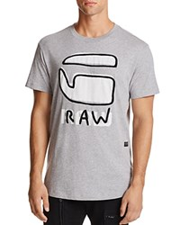 G Star Raw Relax Logo Graphic Tee Gray Heather
