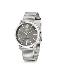 Maserati Epoca Gray Dial Stainless Steel Men's Watch