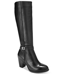 Giani Bernini Raiven Tall Wide Calf Boots Only At Macy's Women's Shoes Black