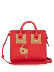 Sophie Hulme Albion Box Leather Cross Body Bag Red