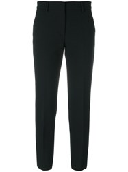 Msgm Cropped Trousers Polyester Spandex Elastane Black
