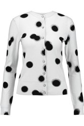 Marc By Marc Jacobs Polka Dot Cotton Cardigan Sky Blue