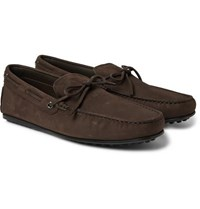 Tod's City Gommino Full Grain Leather Driving Shoes Dark Brown