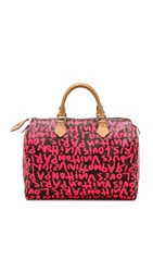 Wgaca Vintage Lv Sprouse Graffiti Speedy Bag Brown