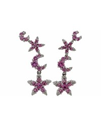 Pasquale Bruni 18K Incanto Pink Sapphire And Diamond Moon And Star Drop Earrings Women's