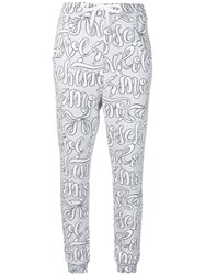 Love Moschino Shoelace Track Trousers Grey