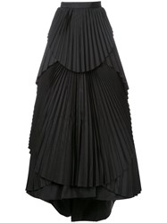 Eavis And Brown Maxi Pleated Skirt Black