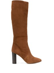 The Seller Round Toe Knee High Boots Brown
