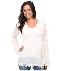 Stetson Cotton Voile Peasant Blouse White Women's Blouse